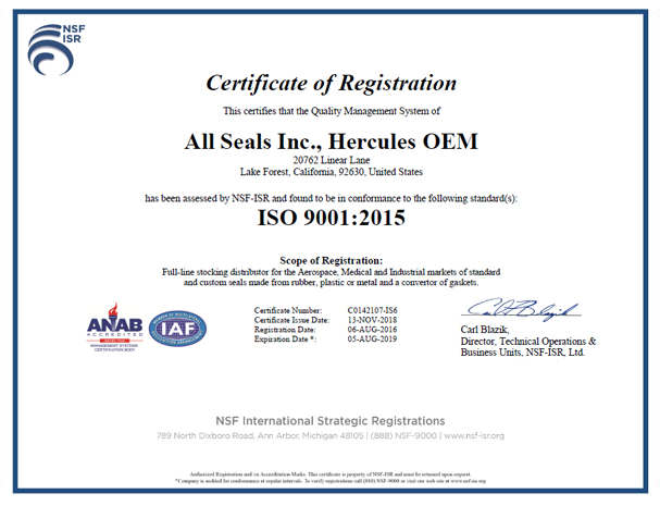 All Seals Inc. - ISO9001:2008 and AS9100:2009 Rev.C